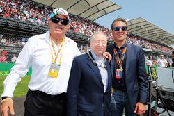 Jean Todt, FIA President met Carlos Slim Domit, America Movil, op de grid