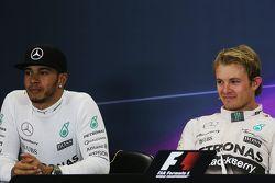 Lewis Hamilton, Mercedes AMG F1 e Nico Rosberg, Mercedes AMG F1