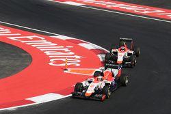 Will Stevens, Manor Marussia F1 Team leads team mate Alexander Rossi, Manor Marussia F1 Team