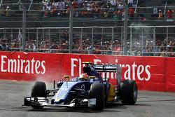 Felipe Nasr, Sauber C34 retired from the race