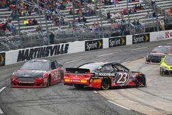 Brett Moffitt, Front Row Motorsports Ford and Jeb Burton, BK Racing Toyota