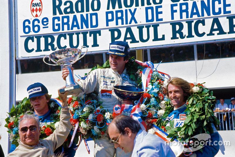 Podyum: Kazanan Alan Jones, Williams, ikinci Didier Pironi, üçüncü Jacques Laffite
