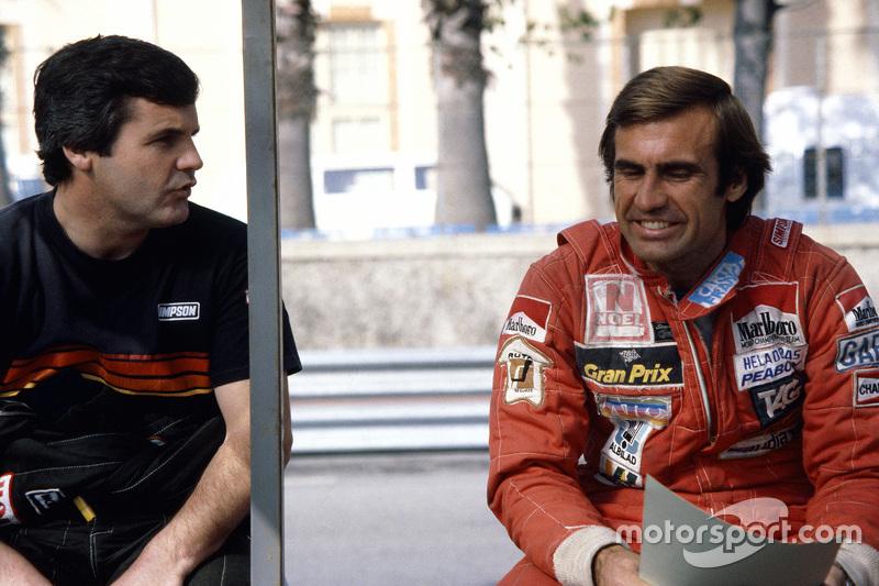 Alan Jones y Carlos Reutemann, vestidos por Simpson