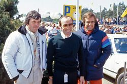 Frank Williams with Alan Jones and Carlos Reutemann, Williams