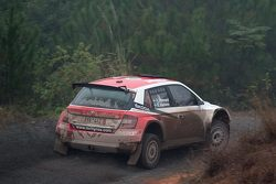 Pontus Tidemand and Emil Axelsson, Skoda Fabia R5, Team MRF