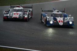 #1 Toyota Racing Toyota TS040 Hybrid: Sébastien Buemi, Anthony Davidson, Kazuki Nakajima and #8 Audi