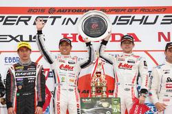Race winners GT300 Kazuki Hoshino, Mitsunori Takaboshi