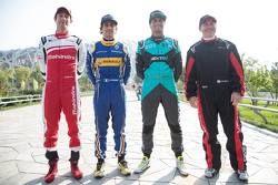 Bruno Senna, Nicolas Prost, Nelson Piquet Jr. e Jacques Villeneuve