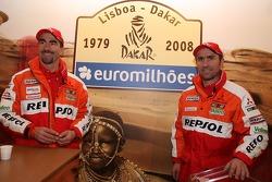 Luc Alphand y Stephane Peterhansel