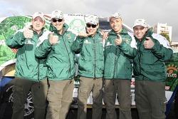 Paulo Nobre and Filipe Palmeiro with Palmeirinha Rally team members