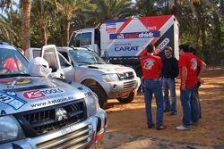Team Fleetboard Dakar training in Tunisia: Ellen Lohr