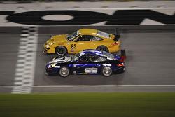 #83 Farnbacher Loles Motorsports Porsche GT3 Cup: Ben McCrackin,Ross Smith, Russell Walker, #66 TRG Porsche GT3 Cup: Bryce Miller, Ted Ballou, Andy Lally, Richard Westbrook