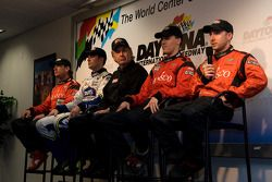 Bob Stallings/ Riley-Matthews press conference: Jimmy Vasser, Jimmie Johnson, Bob Stallings, Alex Gu