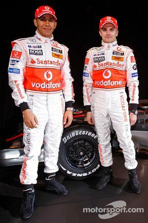 Lewis Hamilton ve Heikki Kovalainen