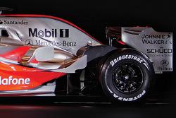 Detail of the new McLaren Mercedes MP4-23