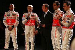 Lewis Hamilton, Heikki Kovalainen, Pedro de la Rosa ve Gary Paffett