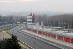 Imola circuit and new pit construction