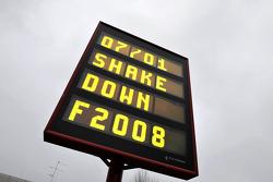 F2008 shakedown