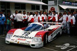 #72 Team Primagaz Porsche 962 C: Pierre Yver, Paul Belmondo, Jürgen Lässig
