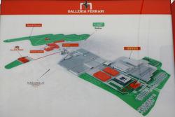 Ferrari factory, Fiorano and Maranello map