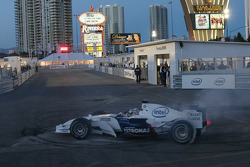 Graham Rahal tries BMW Formula 1 Car