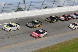Elliott Sadler and Carl Edwards lead a group of cars