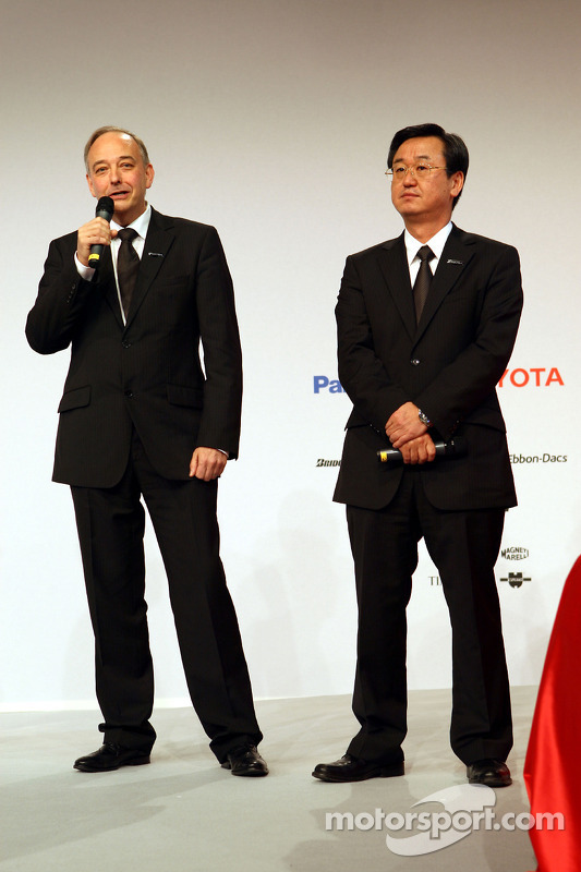 John Howett, Toyota Racing, President TMG and George Tadashi Yamashina, Toyota Motorsport Vice Chairman