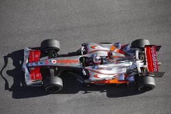 Heikki Kovalainen tests the new McLaren Mercedes MP4-23