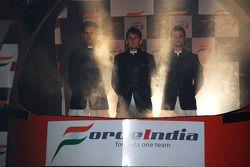 Giancarlo Fisichella Force India F1 ve Vitantonio Luizzi Force India F1 Test Pilotu