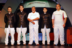 Vitantonio Liuzzi Force India F1, Adrian Sutil Force India F1, Vijay Mallya CEO Kingfisher, Giancarl