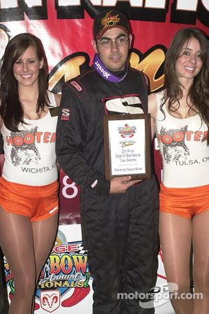 The top four finishers in the Creek Nation Casino Qualifying Showdown: first place Josh Ford
