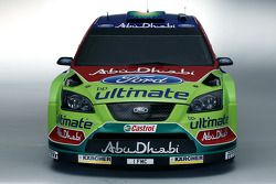 The Ford Focus RS WRC in its 2008 livery
