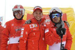 Kimi Raikkonen, Casey Stoner ve Felipe Massa