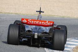 Lewis Hamilton tests the new McLaren Mercedes MP4-23