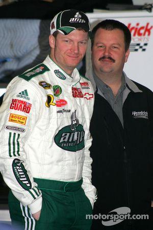 Dale Earnhardt Jr. Et son chef d'équipe Tony Eury Jr.