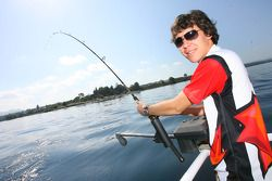 Robert Wickens, driver of A1 Team Canada goes fishing