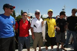 Aaron Lim, driver of A1 Team Malaysia with the mayor of Taupo