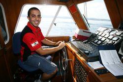 Khalil Beschir, driver of A1 Team Lebanon drives the boat