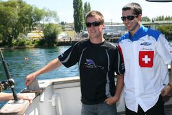 Jonny Reid, driver of A1 Team New Zealand and Neel Jani, driver of A1 Team Switzerland