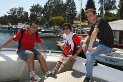 Khalil Beschir, driver of A1 Team Lebanon with Robert Wickens, driver of A1 Team Canada and Christian Vietoris, driver of A1 Team Germany