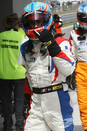 Pole Position, for feature race, Loic Duval, driver of A1 Team France