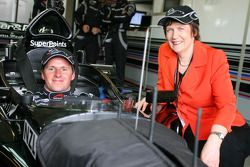 Jonny Reid, driver of A1 Team New Zealand and Helen Clark, Prime Minister of New Zealand