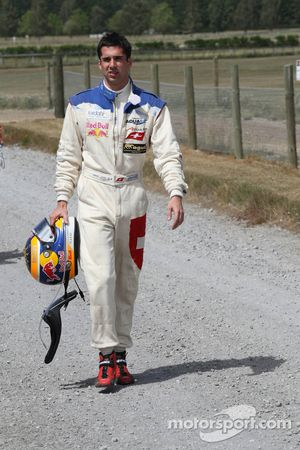 Neel Jani, driver of A1 Team Switzerland walks back to the pits