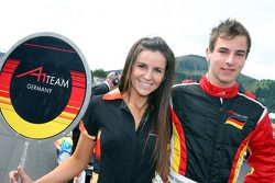 Christian Vietoris, driver of A1 Team Germany with his grid girl
