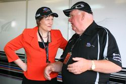 Helen Clark, Prime Minister of New Zealand and Colin Giltrap, Seat holder of A1 Team New Zealand