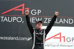 Podium: race winner Jonny Reid