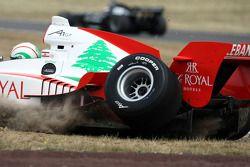 Chris Alajajian, driver of A1 Team Lebanon spins