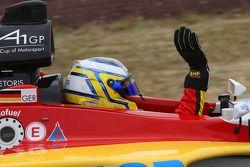 Race winner Christian Vietoris celebrates