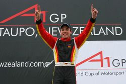Podium: race winner Christian Vietoris celebrates