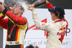 Podium: race winner Christian Vietoris and Robert Wickens